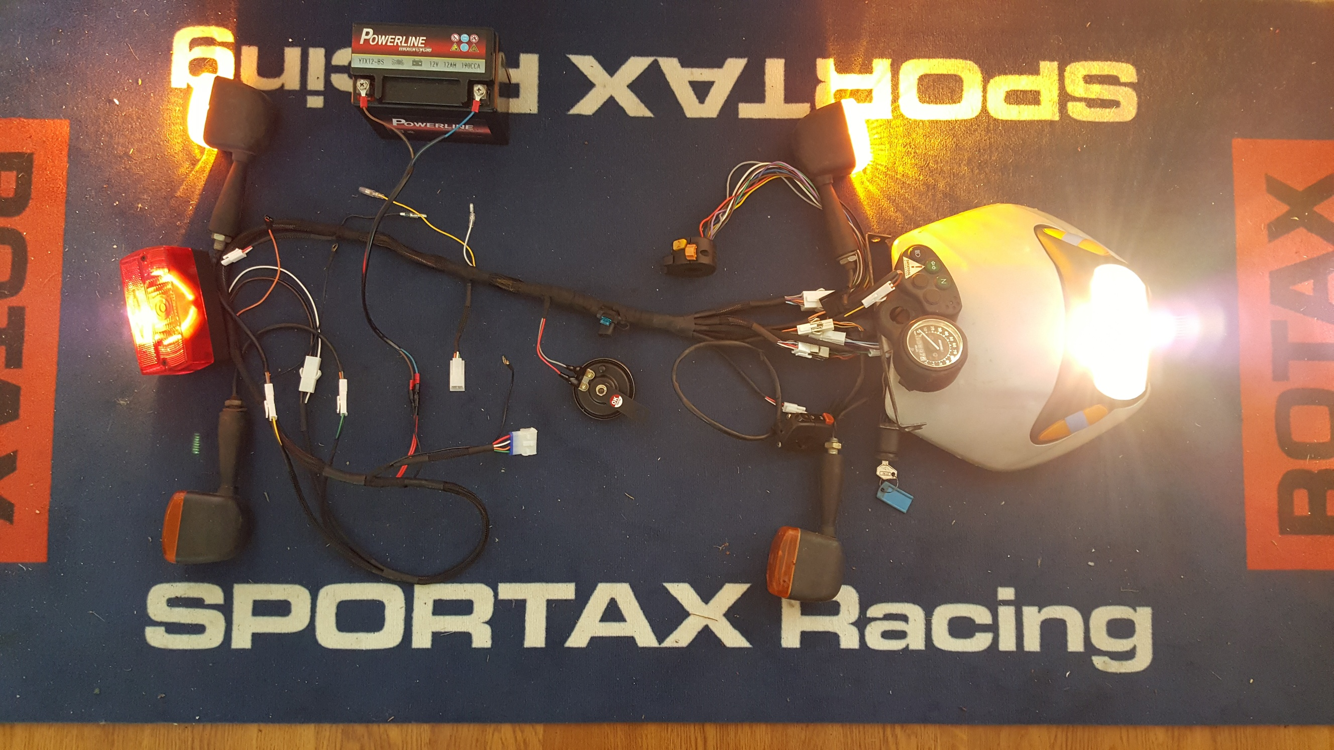 Ccm 604 Main Wiring Harness Sportax Racing Motorcycle Manufacturers Uk Above You Can See A Picture Of The Loom During Manufacture And Being Tested